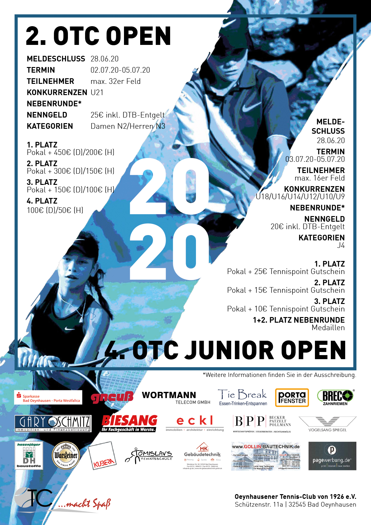 OTC Junior Open Tennistunier